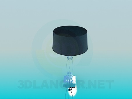 3d model Table lamp on the glass leg - preview