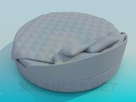 3d модель Кровать круглая – превью