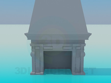 3d model Fireplace with stucco - preview