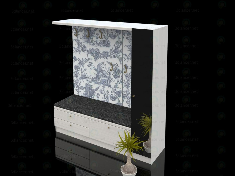 modelo 3D Muebles de recibidor - escuchar