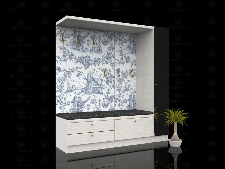 3d моделирование Мебель в прихожую модель скачать бесплатно