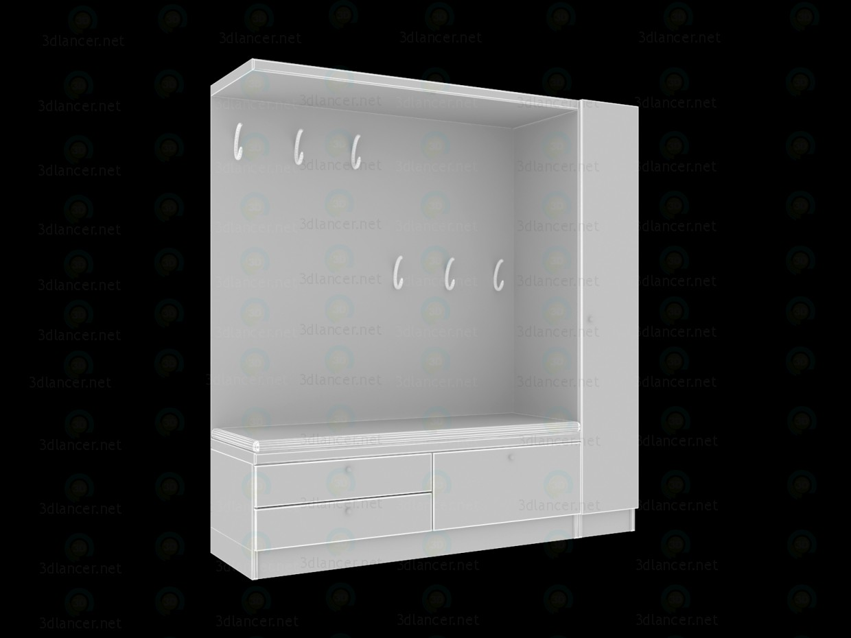 3d model Hallway furniture - preview