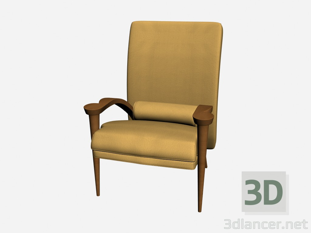 3d model Armchair Ryno - preview