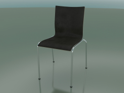 Chair on 4 legs with leather interior upholstery (101)