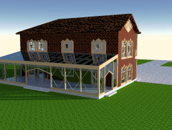 Casa con veranda