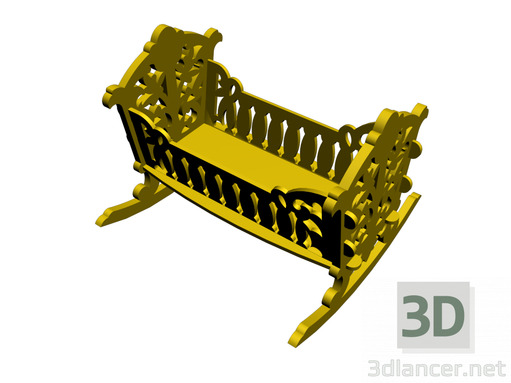 3d model Cot - preview