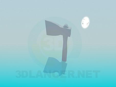 3d модель Топор – превью