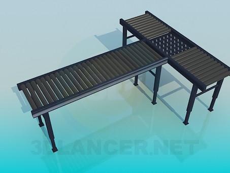 3d modeling T-shaped bench model free download