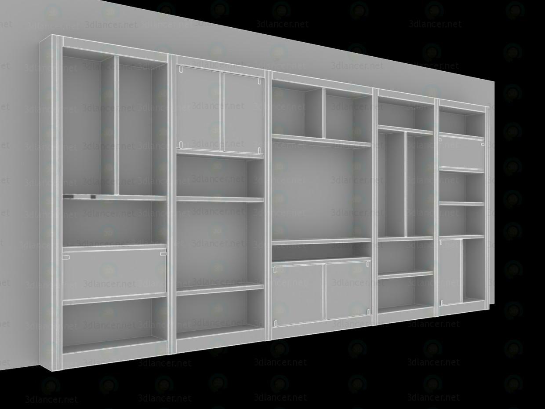 3d модель Стелаж для вітальні – превью