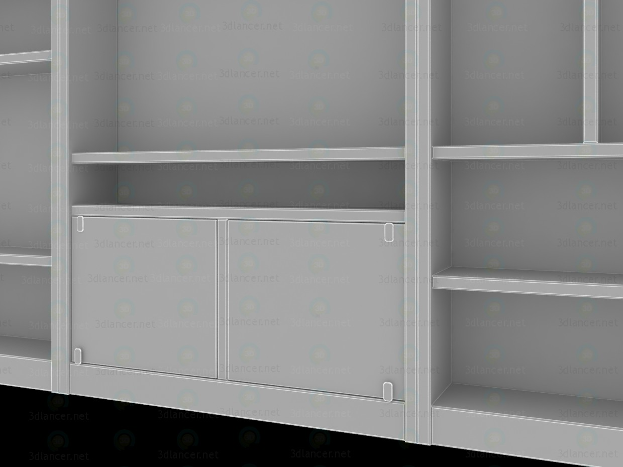 3d model Bookcase for living room - preview