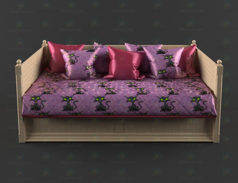 3d модель Ліжко-диван – превью