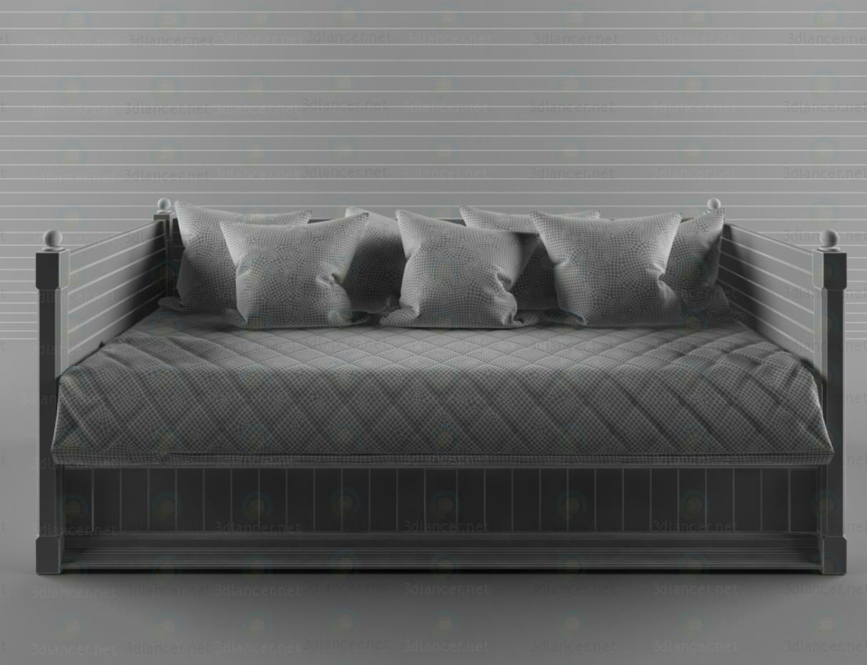 3d модель Кровать-тахта – превью