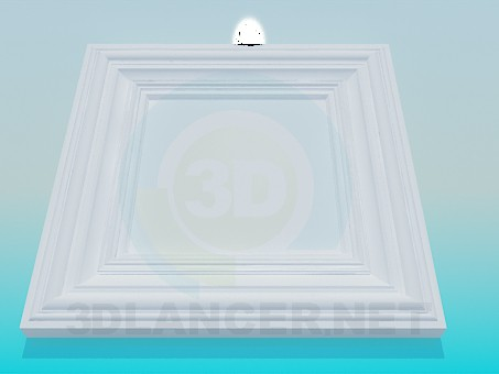 3d модель Розетка потолочная – превью