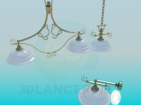 modelo 3D Sistema de iluminación - escuchar