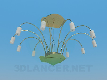 3d model Chandelier with metallic arcs - preview