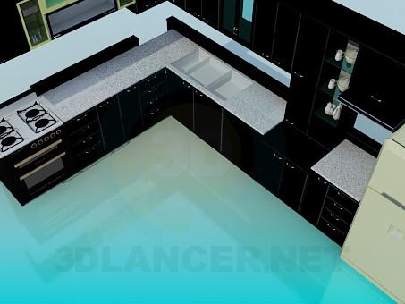 3d modeling Big kitchen model free download