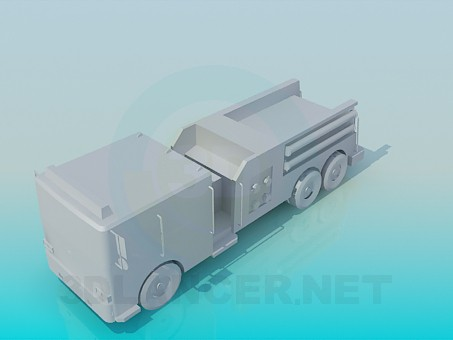 modelo 3D Camión de bomberos - escuchar