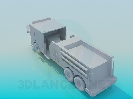 3d модель Пожежна машина – превью