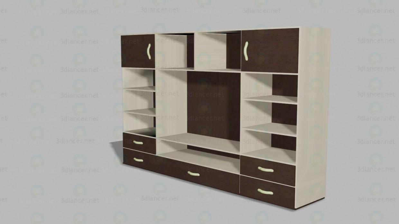 Стенной шкаф 3d модель купить - рендер