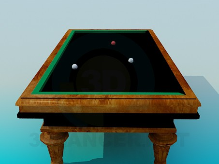 3d model Pool Table - preview
