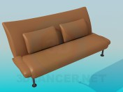 Sofa-bench on high legs