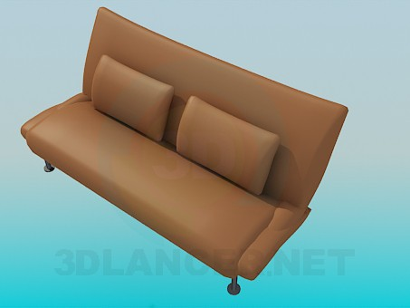 3d model Sofa-bench on high legs - preview