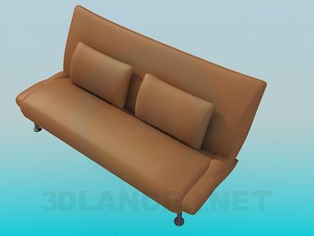 modelo 3D Banco de sofá con patas altas - escuchar