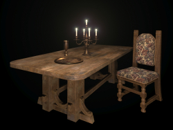 Vecchio tavolo in rovere.