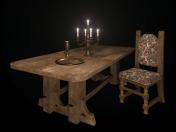 Old oak table.
