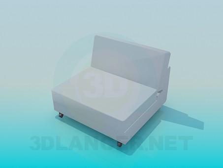 modelo 3D Sillón de estilo high-tech - escuchar
