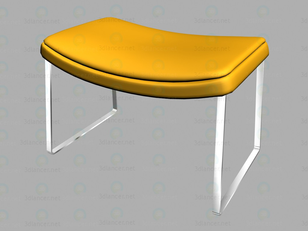 3d model pouffe me62 b b italia collection metropolitan download for free. Black Bedroom Furniture Sets. Home Design Ideas