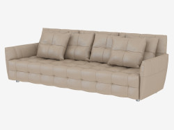 Leather sofa triple