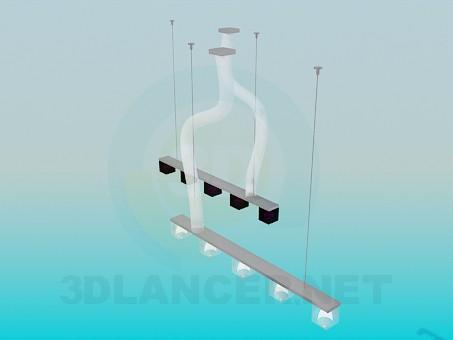 3d модель Светильники на 5 ламп – превью
