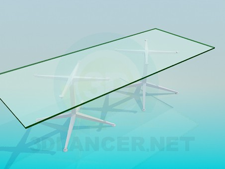 3d model Conference table for office - preview