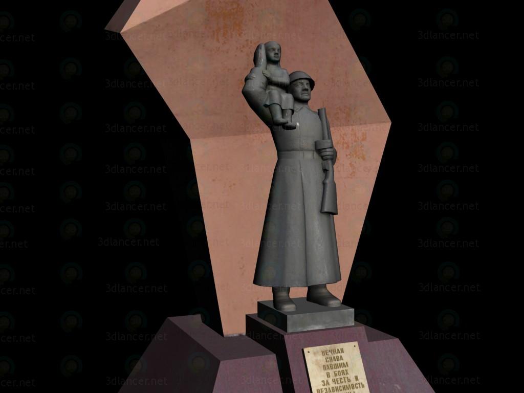 Monumento de gloria pagado modelo 3d por escuchar Былтаков