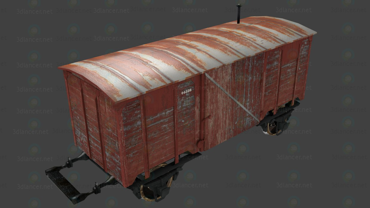 3d Wagon model buy - render