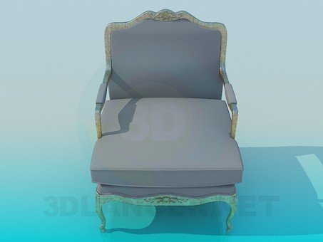 3d modeling Gray chair model free download