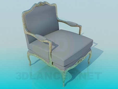 3d model Gray chair - preview