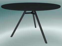 Tavolo MART (9835-01 (⌀ 120cm), H 73cm, HPL nero, estruso di alluminio, verniciato a polvere nero)