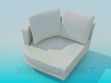 3d modeling angular armchair model free download