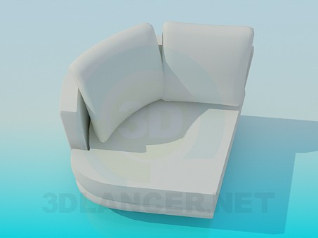 modelo 3D Sillón angular - escuchar