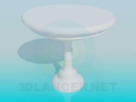 3d model A table for one leg - preview