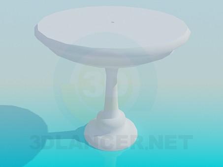 modelo 3D Una mesa para una pierna - escuchar