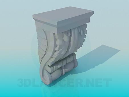 modelo 3D Decoración de estuco - escuchar