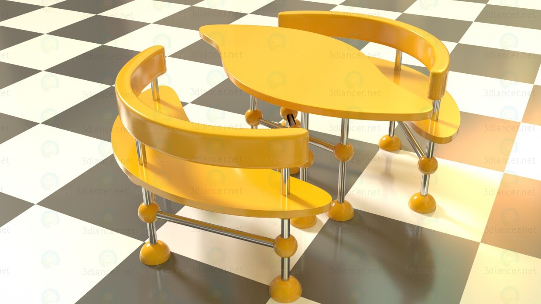 3d моделирование Набор мебели модель скачать бесплатно