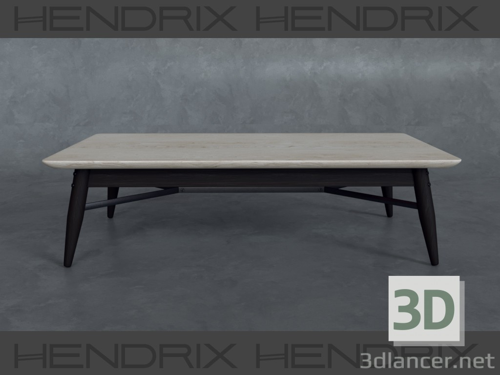 3d Стол кофейный HENDRIX model buy - render