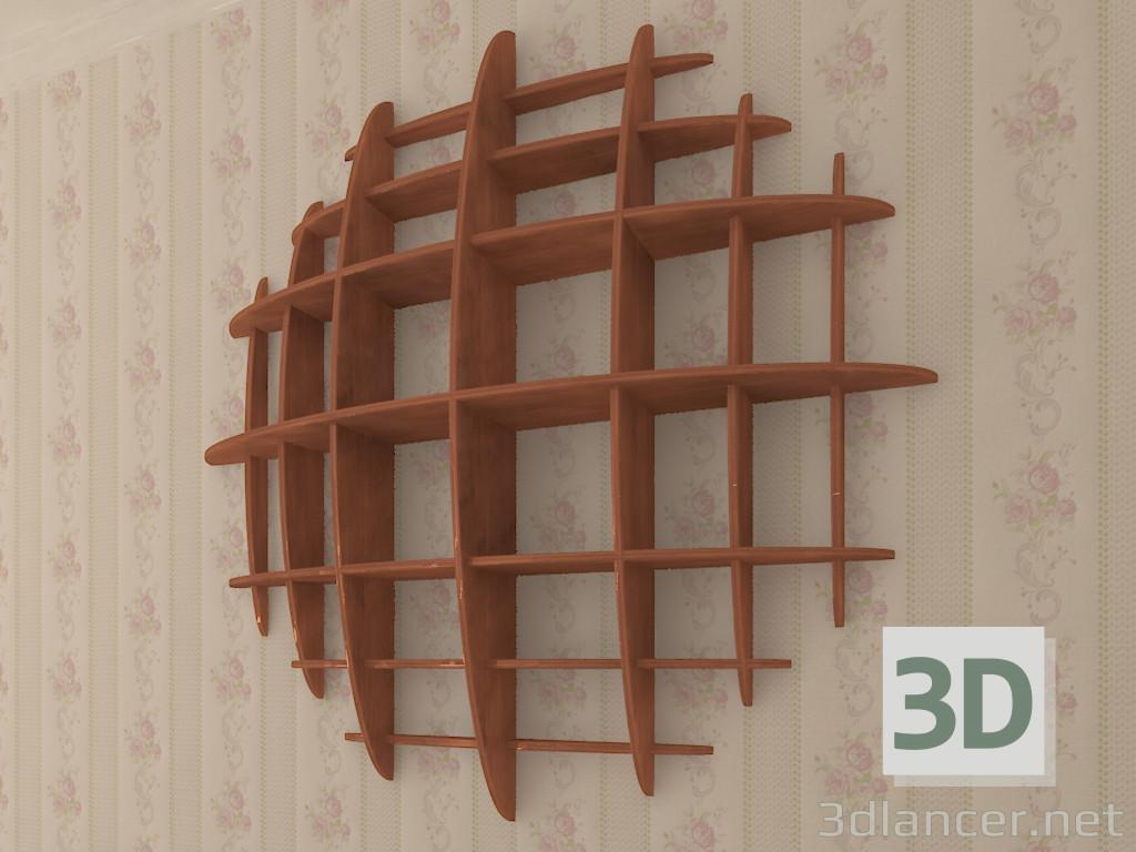 3d The shelf is multi-level. model buy - render