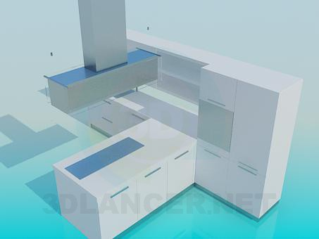 3d model Kitchen, template - preview