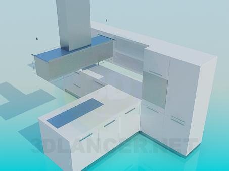 3d модель Кухня, шаблон – превью
