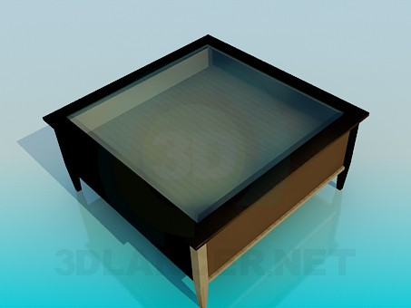 3d model Coffee table with drawers - preview